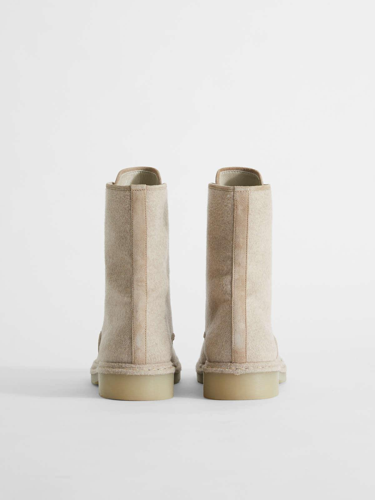 Womens Max Mara Ankle Boots And Boots | Cashmere Combat Boots Sand