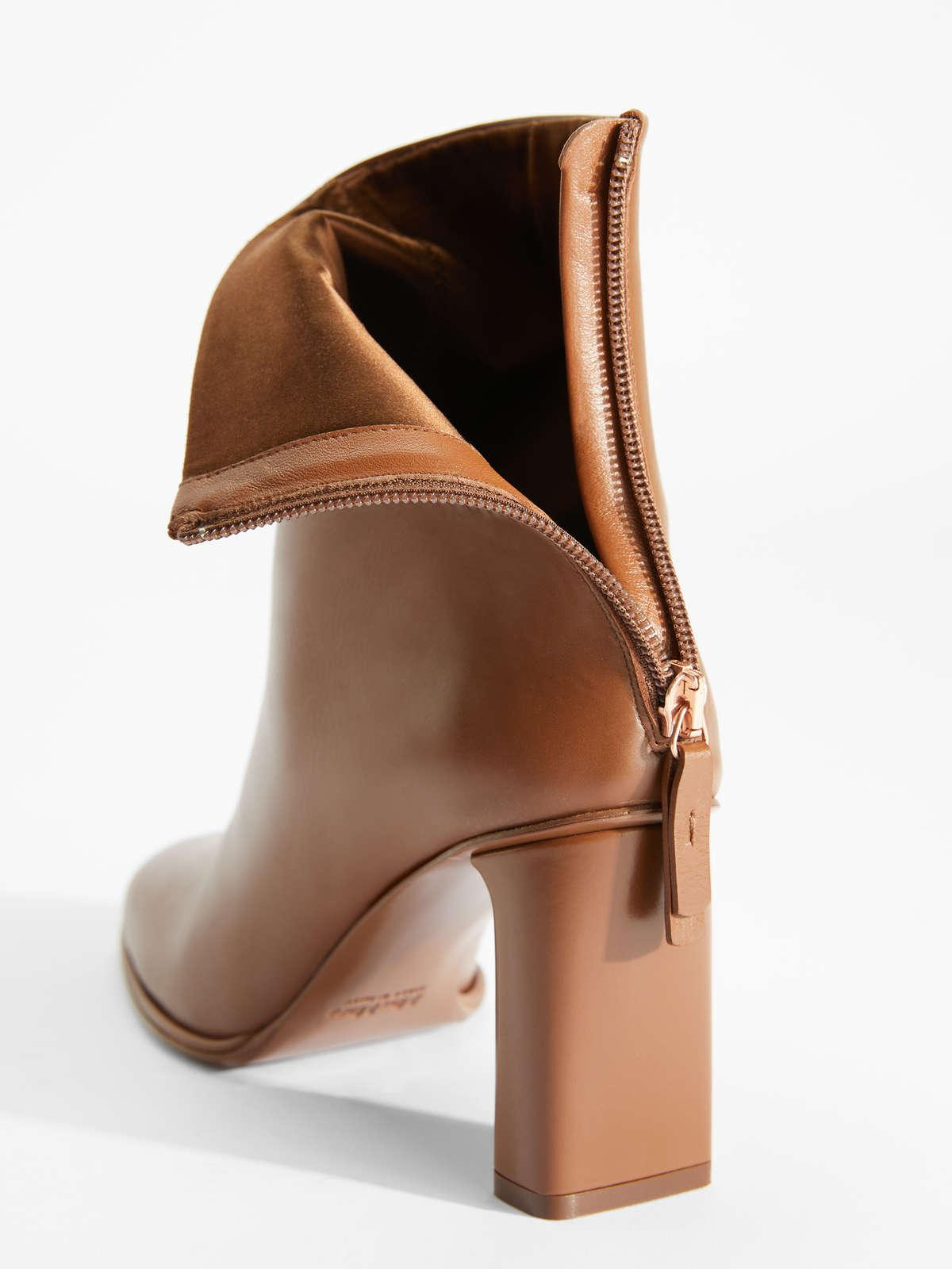 Womens Max Mara Ankle Boots And Boots | Leather Boots Tobacco