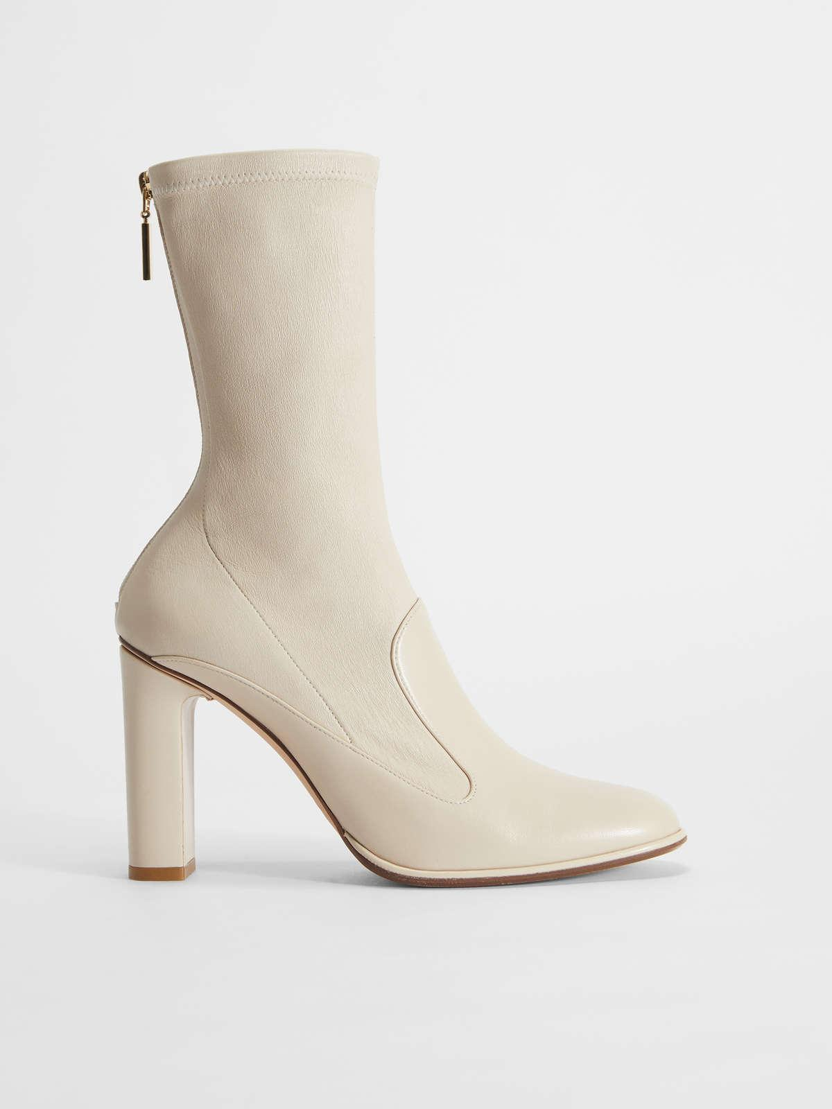 Womens Max Mara Ankle Boots And Boots | Nappa Leather Ankle Boots Albino