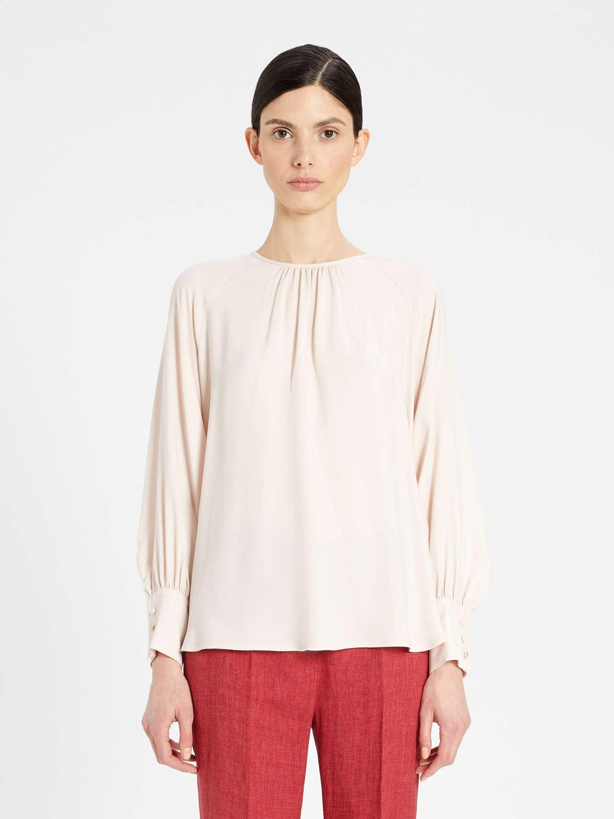 Womens Max Mara Blouses | Acetate And Silk Twill Blouse Antique Rose