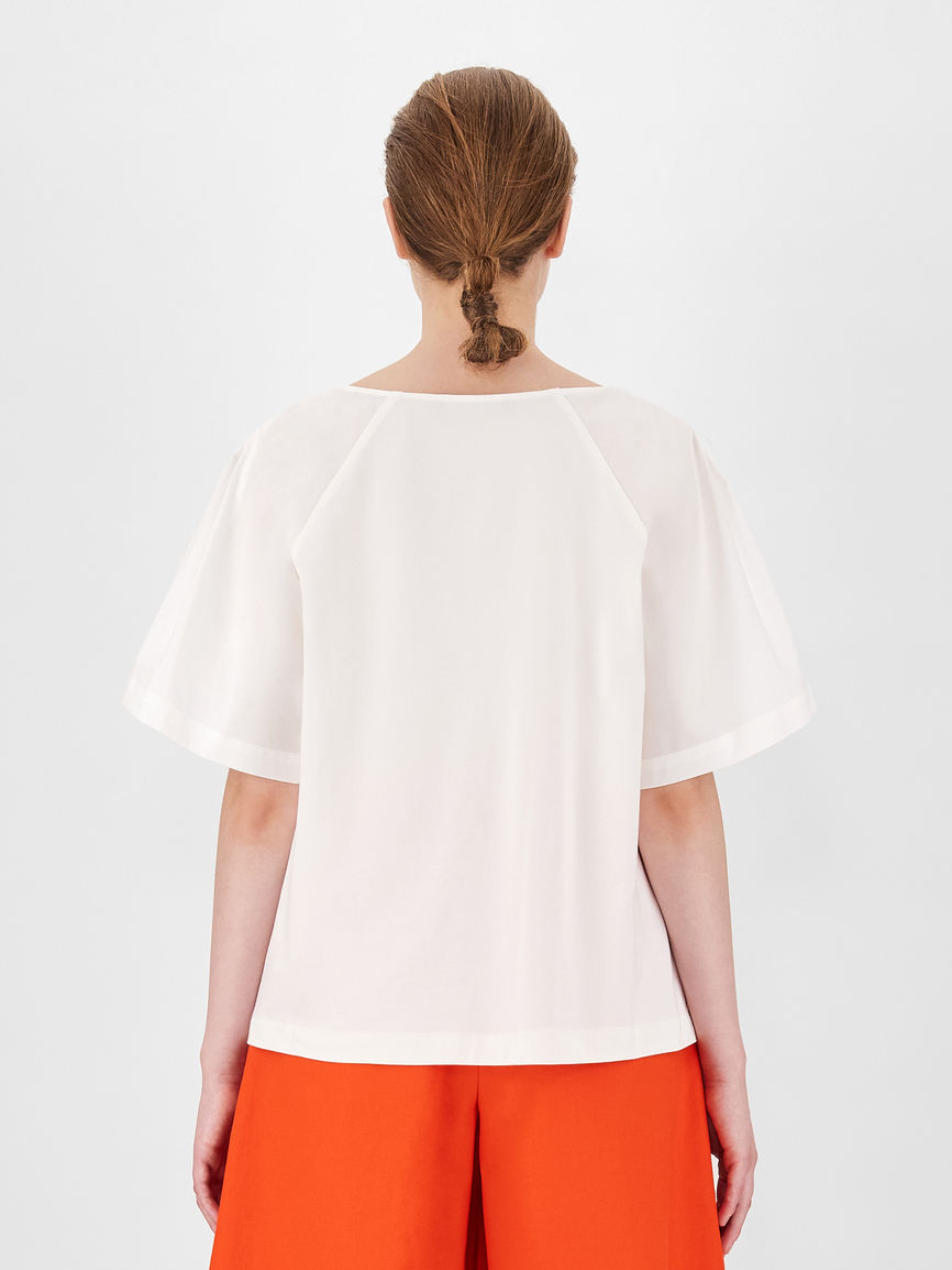 Womens Max Mara Blouses | Cotton And Jersey Blouse White