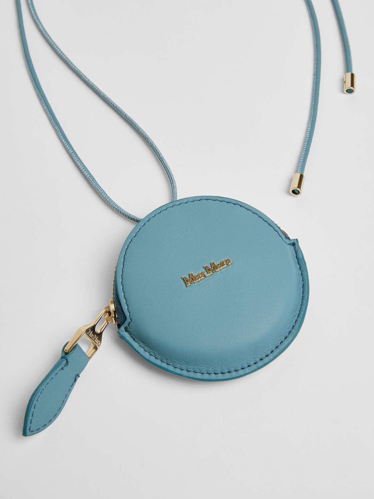 Womens Max Mara Cover And Coin Purse   Leather Coin Purse Light Blue