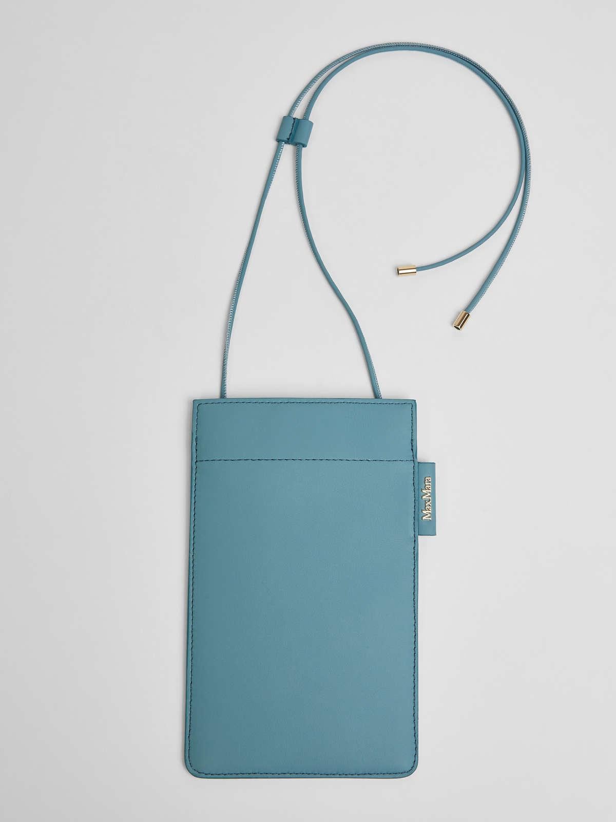 Womens Max Mara Cover And Coin Purse | Leather Phone Case Light Blue