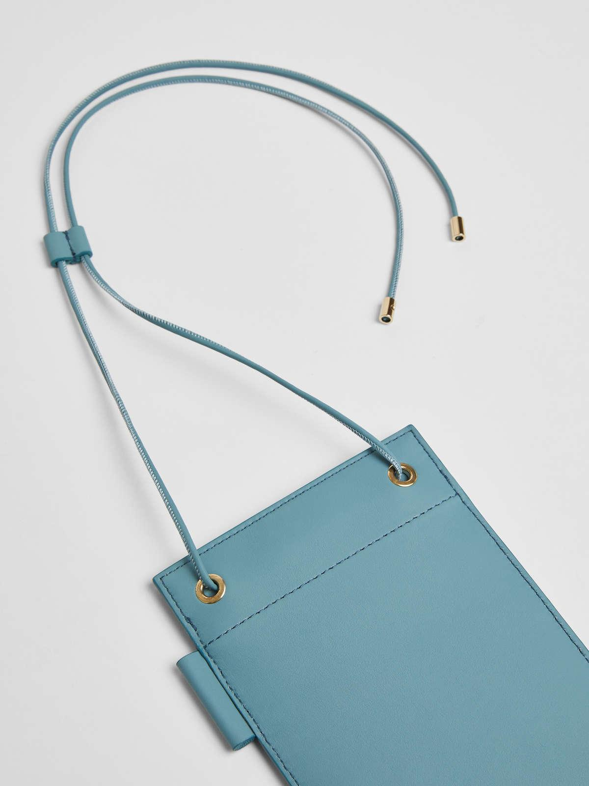 Womens Max Mara Cover And Coin Purse   Leather Phone Case Light Blue