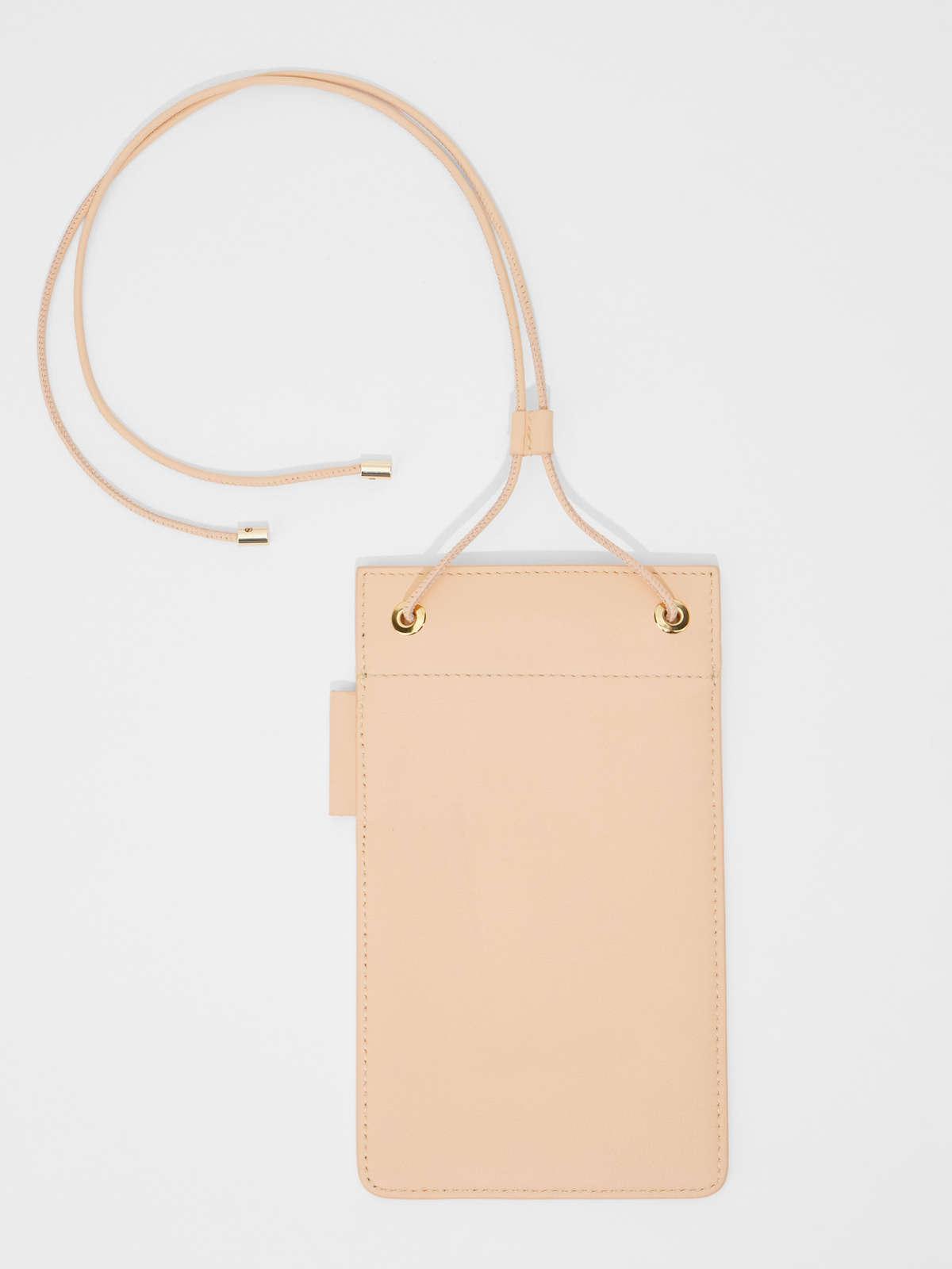 Womens Max Mara Cover And Coin Purse   Leather Phone Case Peach
