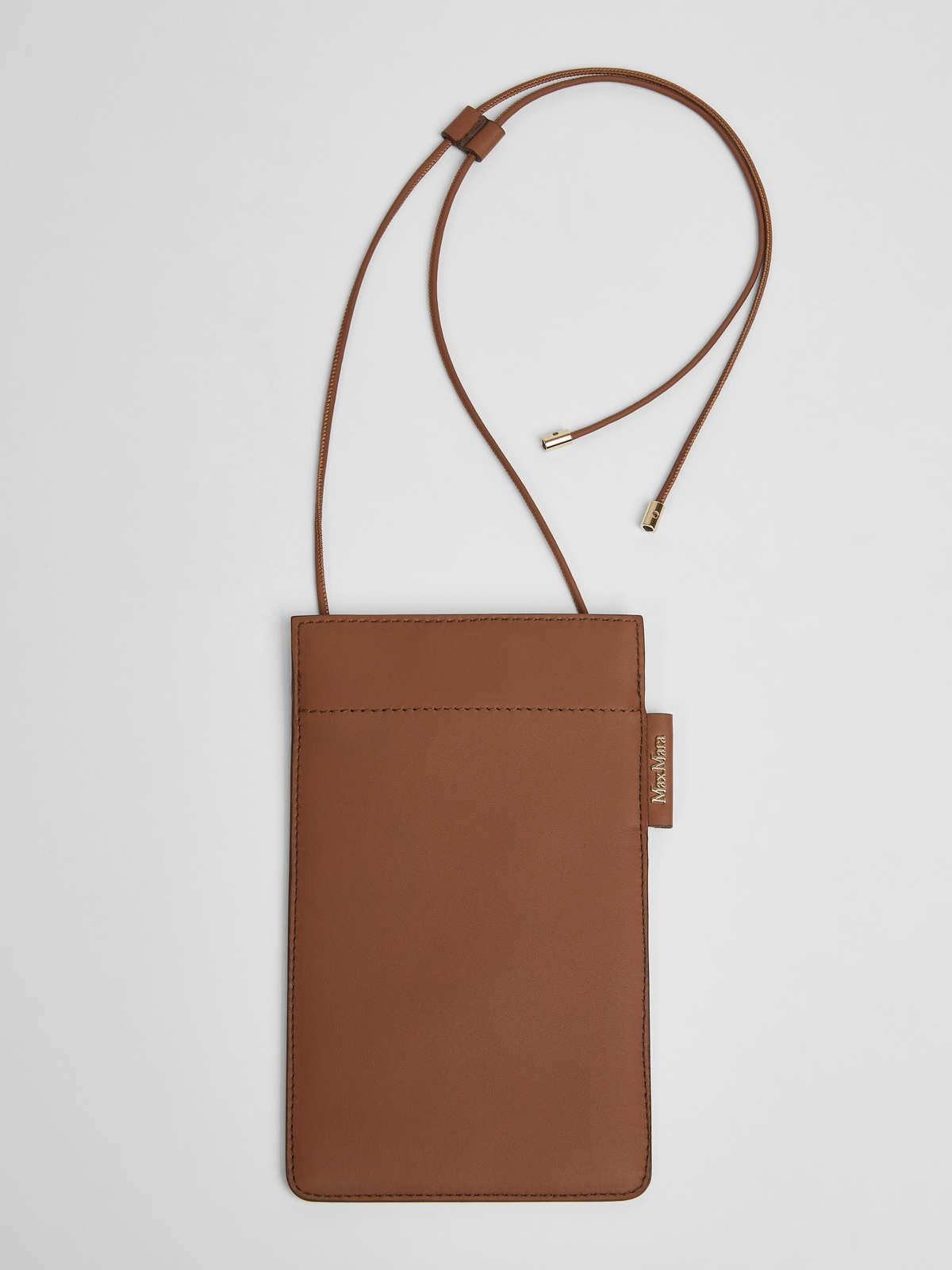 Womens Max Mara Cover And Coin Purse | Leather Phone Case Tobacco