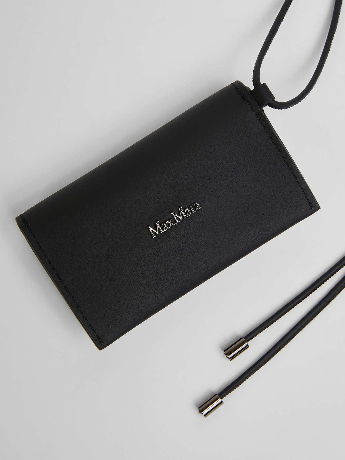 Womens Max Mara Cover And Coin Purse | Long Necklace With Clutch Bag Black