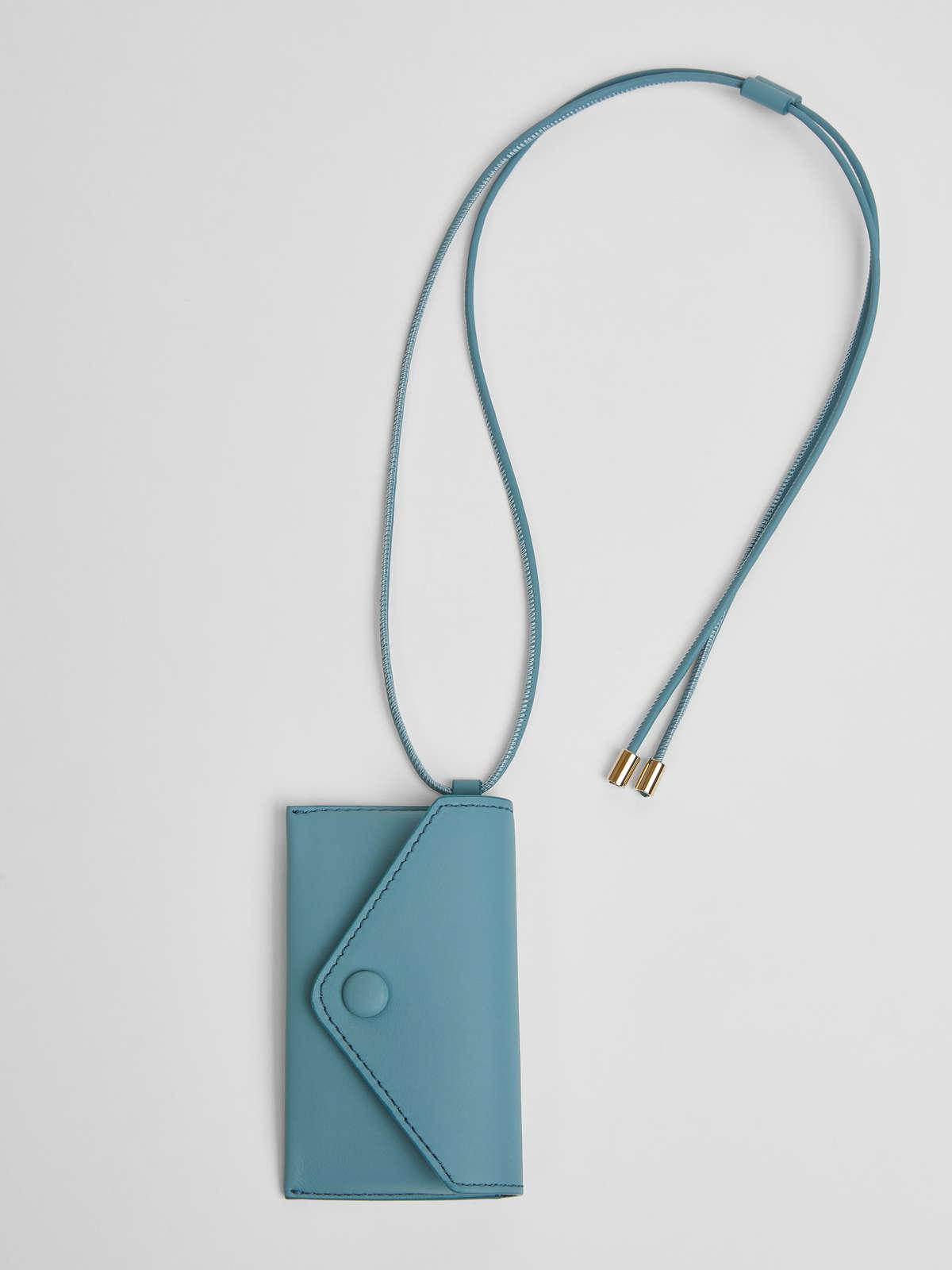 Womens Max Mara Cover And Coin Purse | Long Necklace With Clutch Bag Light Blue
