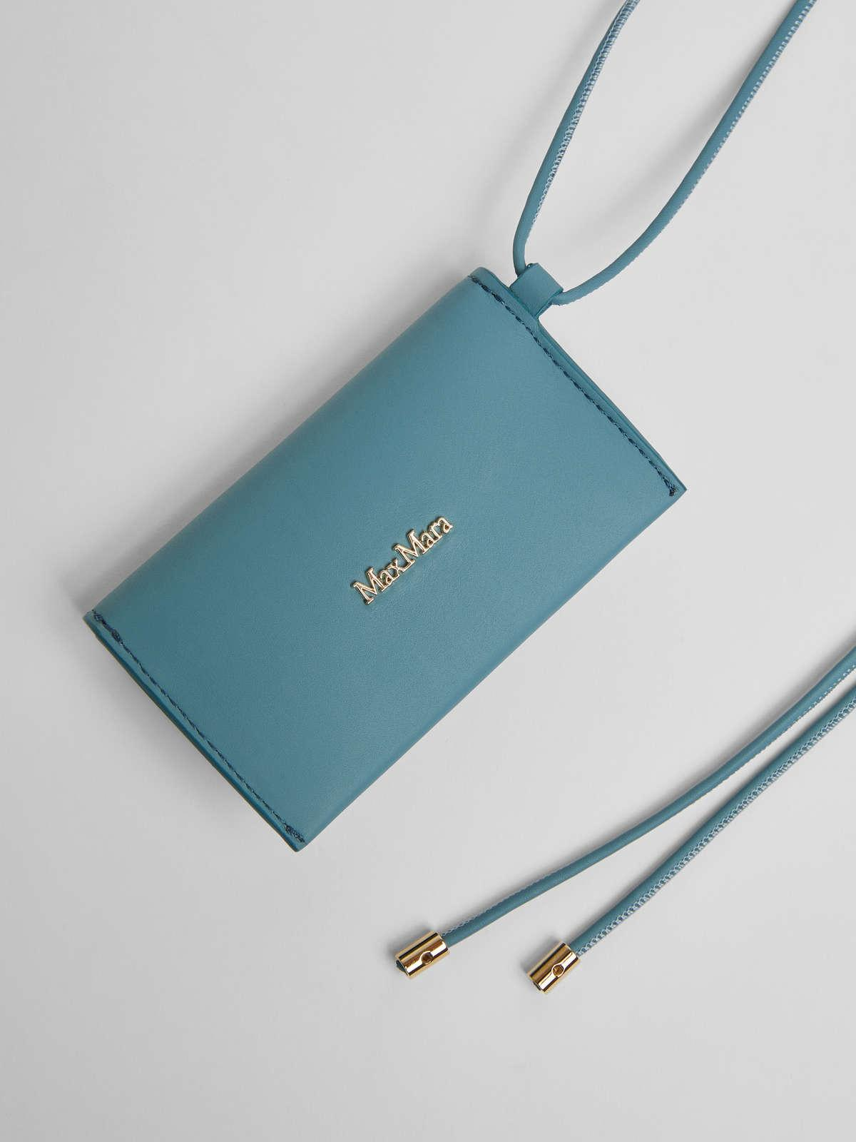 Womens Max Mara Cover And Coin Purse   Long Necklace With Clutch Bag Light Blue