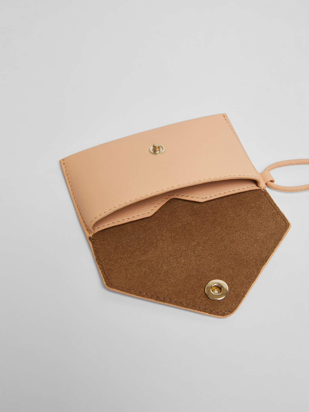 Womens Max Mara Cover And Coin Purse | Long Necklace With Clutch Bag Peach
