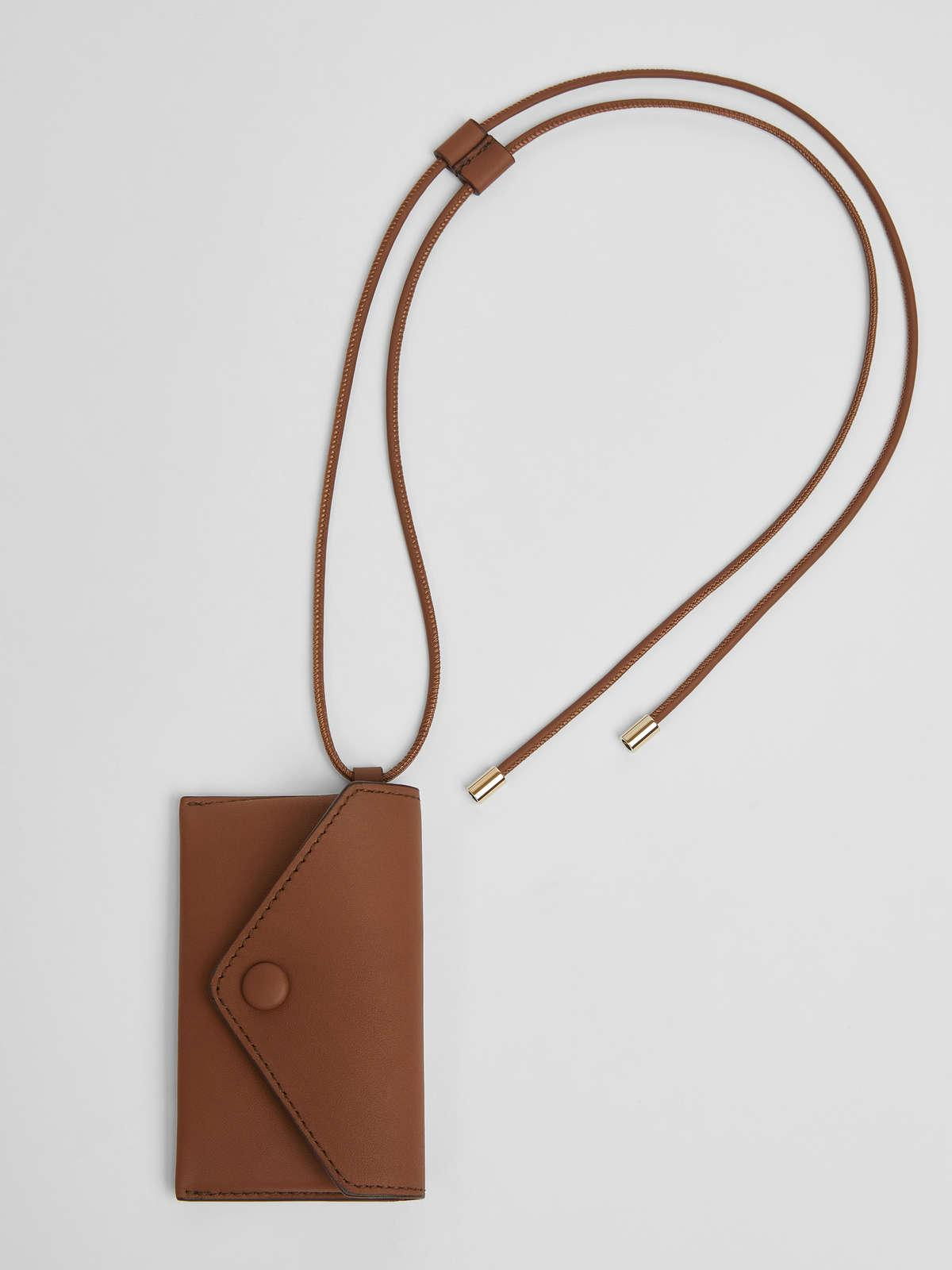 Womens Max Mara Cover And Coin Purse | Long Necklace With Clutch Bag Tobacco
