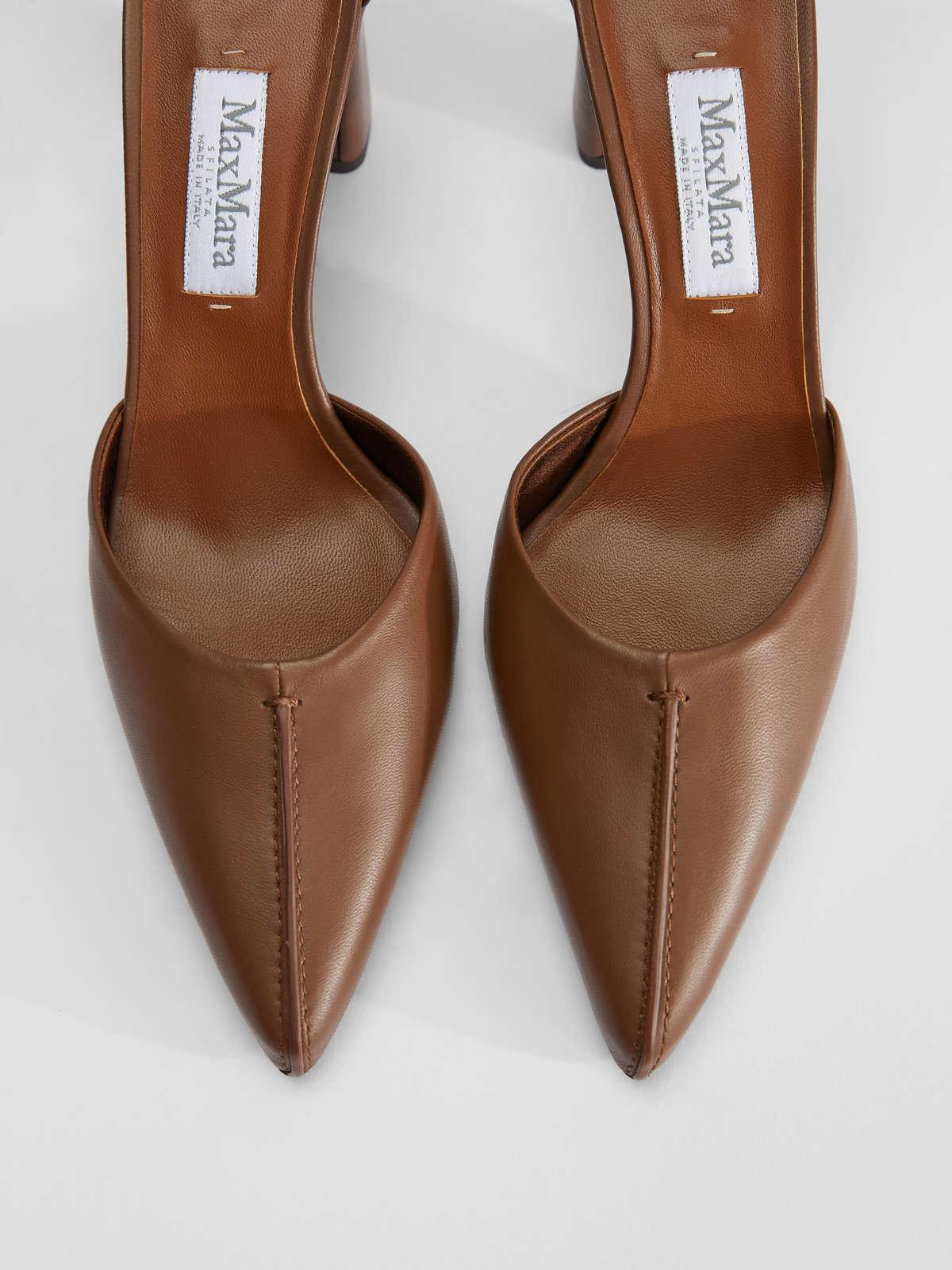 Womens Max Mara Décolleté | Court Shoes In Nappa Leather Tobacco
