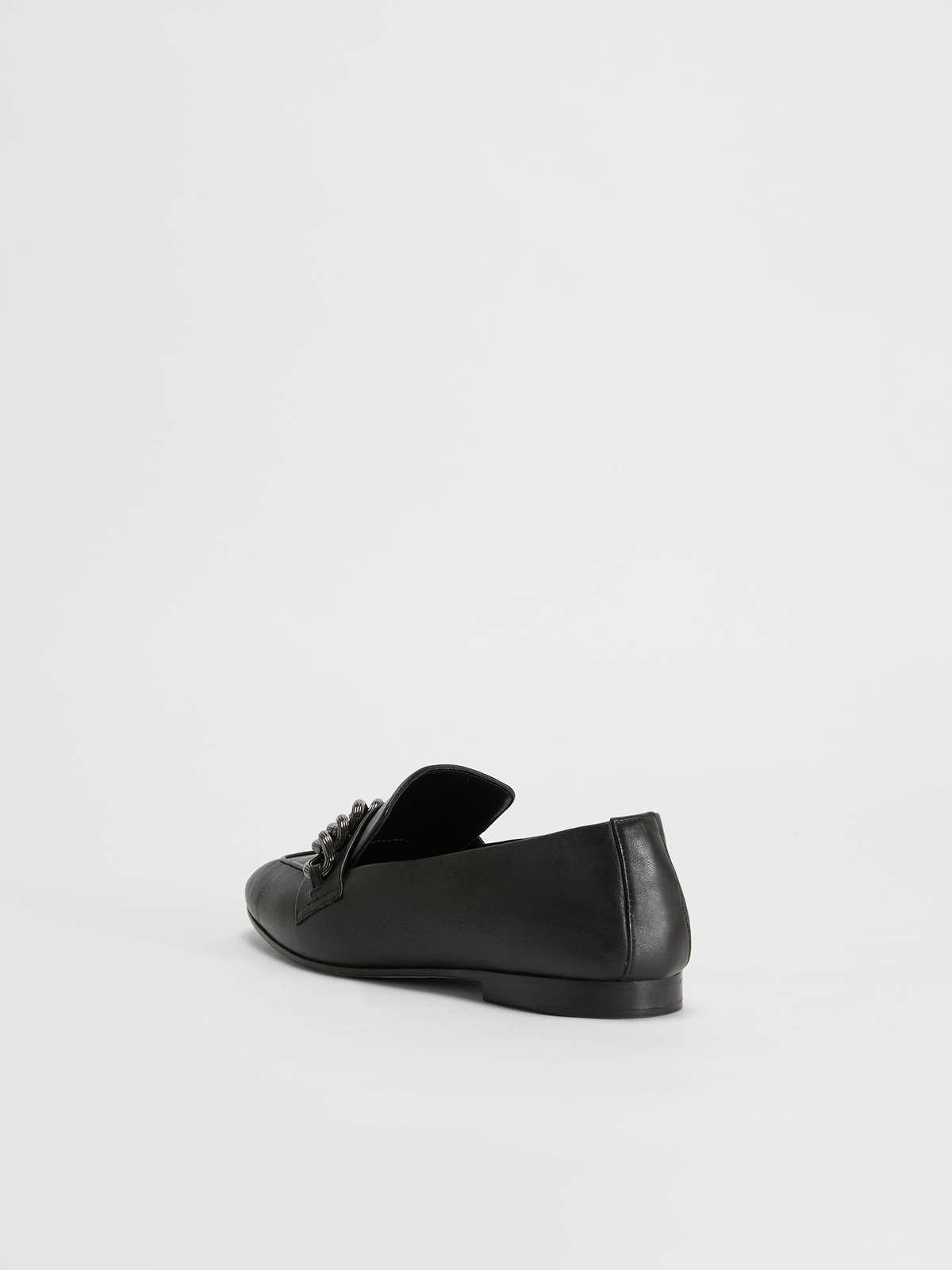 Womens Max Mara Flat Shoes | Nappa Leather Loafers Black