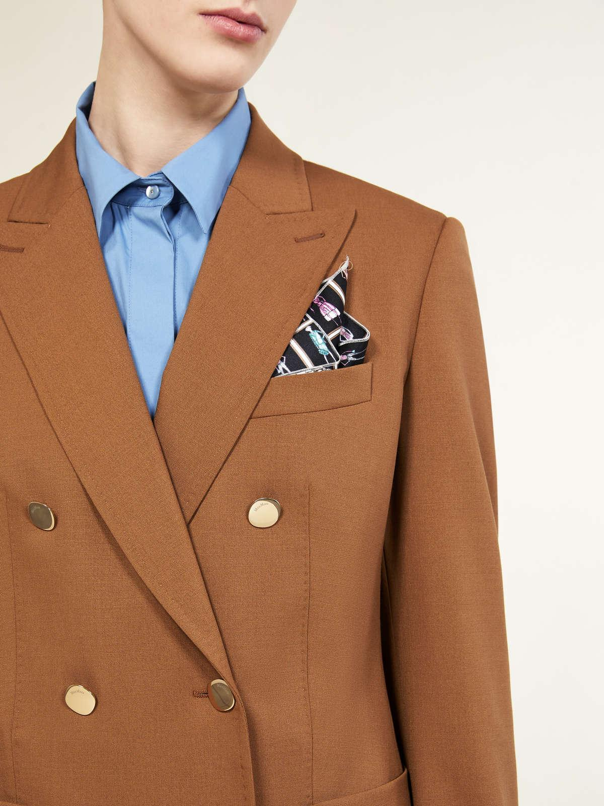 Womens Max Mara Jackets And Blazers | Blazer In Wool And Mohair Faille Caramel