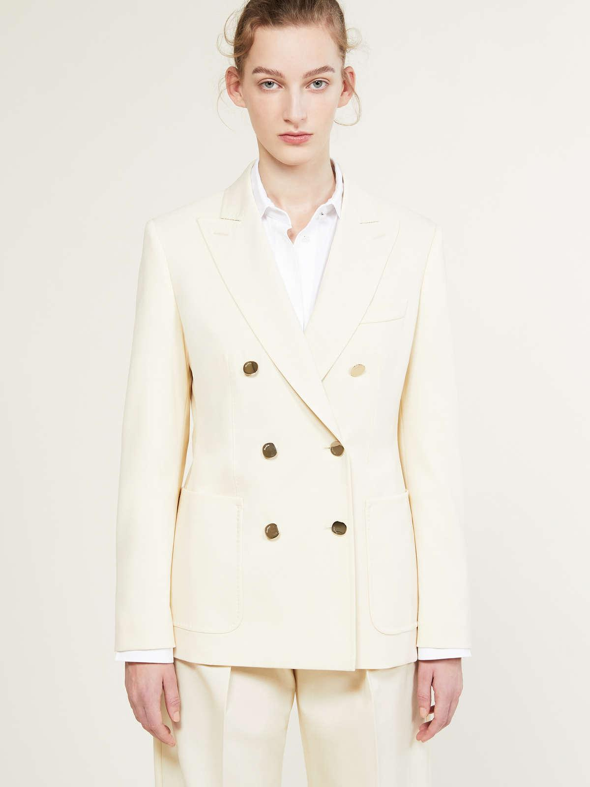 Womens Max Mara Jackets And Blazers   Blazer In Wool And Mohair Faille Ivory