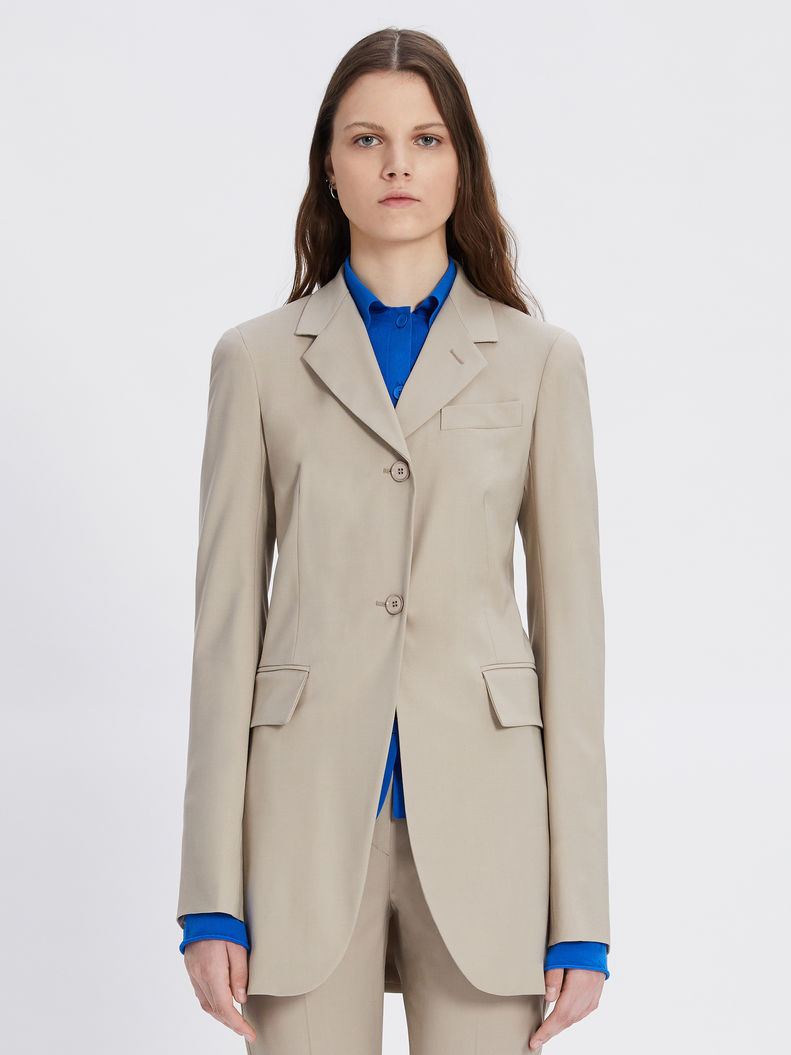 Womens Max Mara Jackets And Blazers   Two-Button Jacket Tawny Bronze Brown