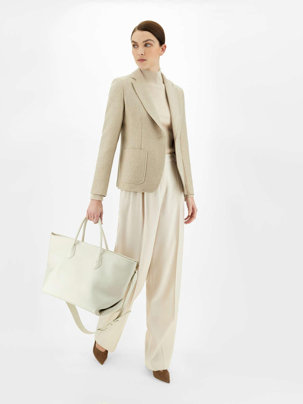 Womens Max Mara Jackets And Blazers | Wool And Cashmere Jacket Beige