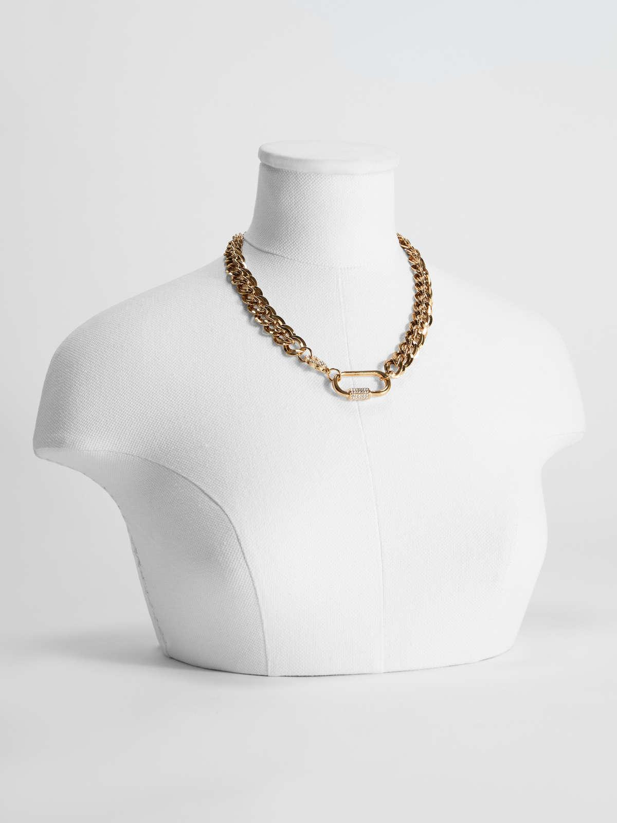 Womens Max Mara Jewelry | Chain Necklace With Snap-Hook Clasp Gold