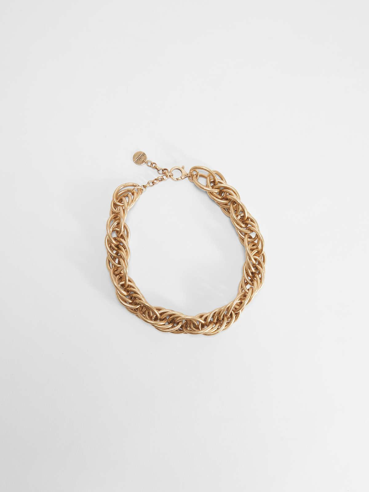 Womens Max Mara Jewelry   Metal Necklace Gold