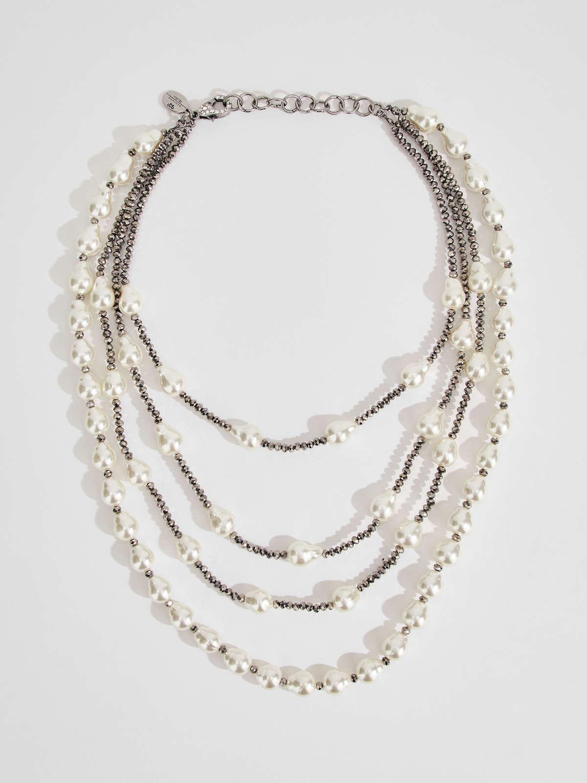 Womens Max Mara Jewelry | Multi-Strand Necklace With Beads Natural
