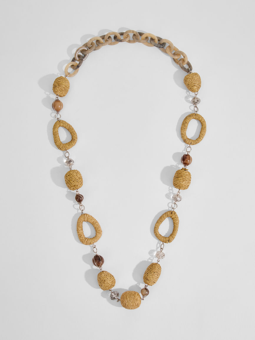 Womens Max Mara Jewelry | Rope And Straw Necklace Natural