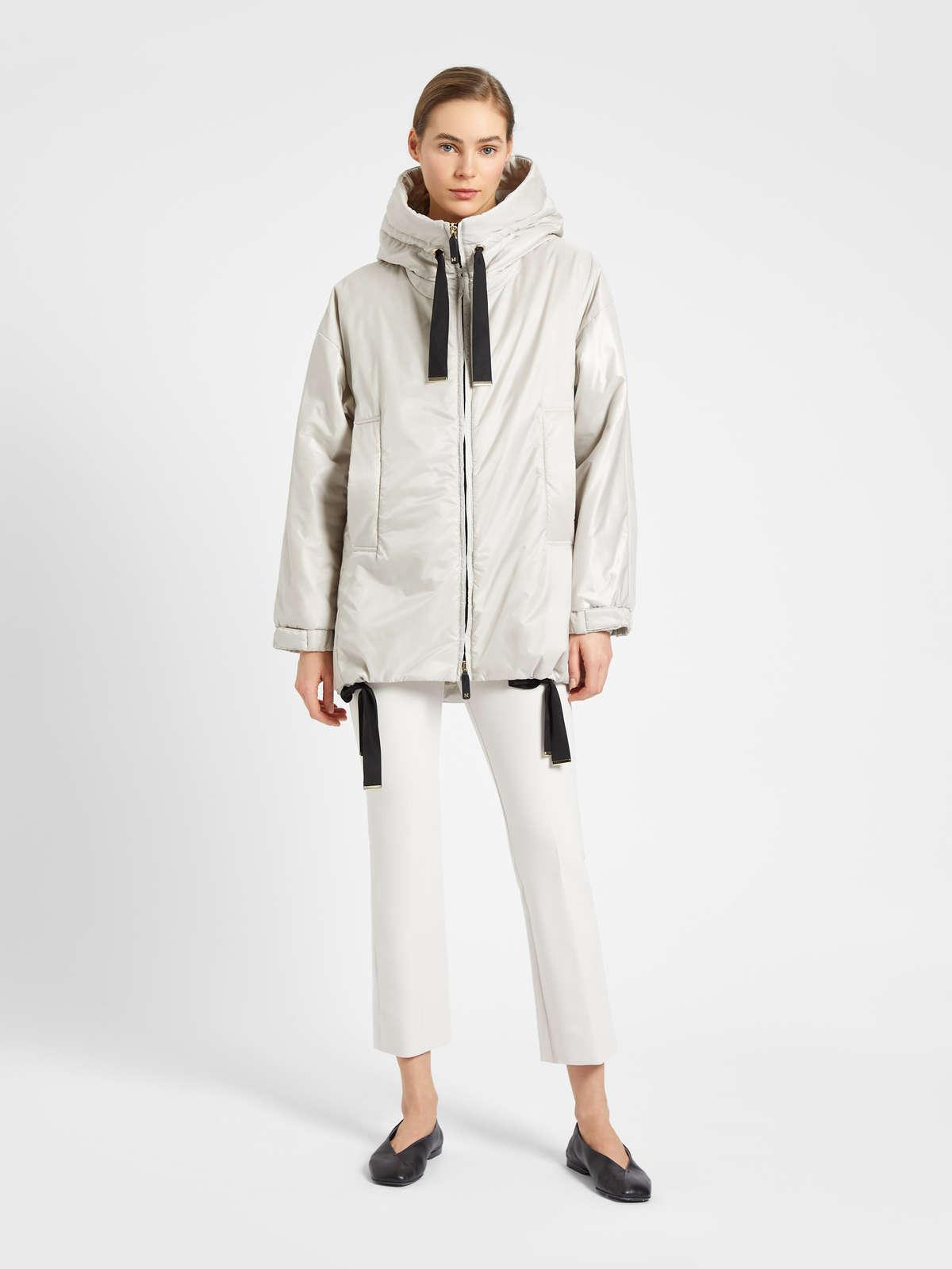Womens Max Mara Padded Coats | Water-Repellent Canvas Hoodie Ice
