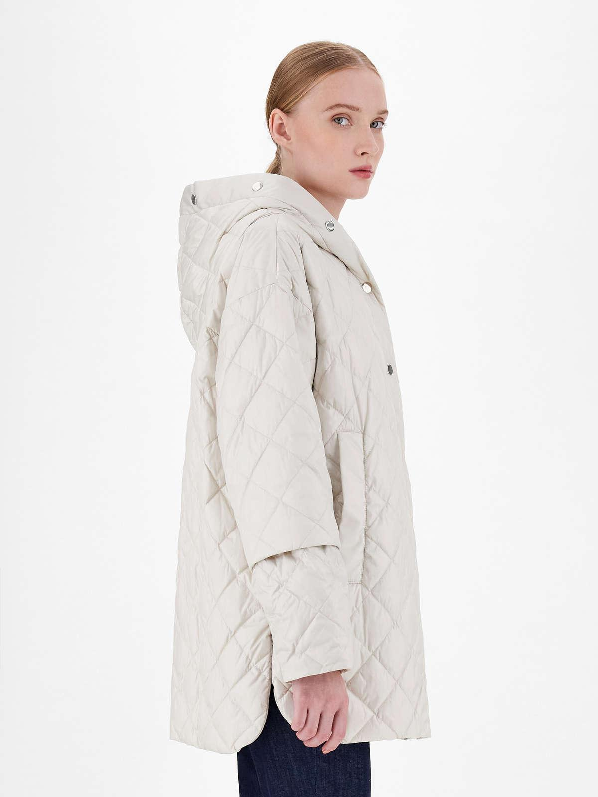 Womens Max Mara Padded Coats | Water-Repellent Reversible Canvas Down Jacket Ivory