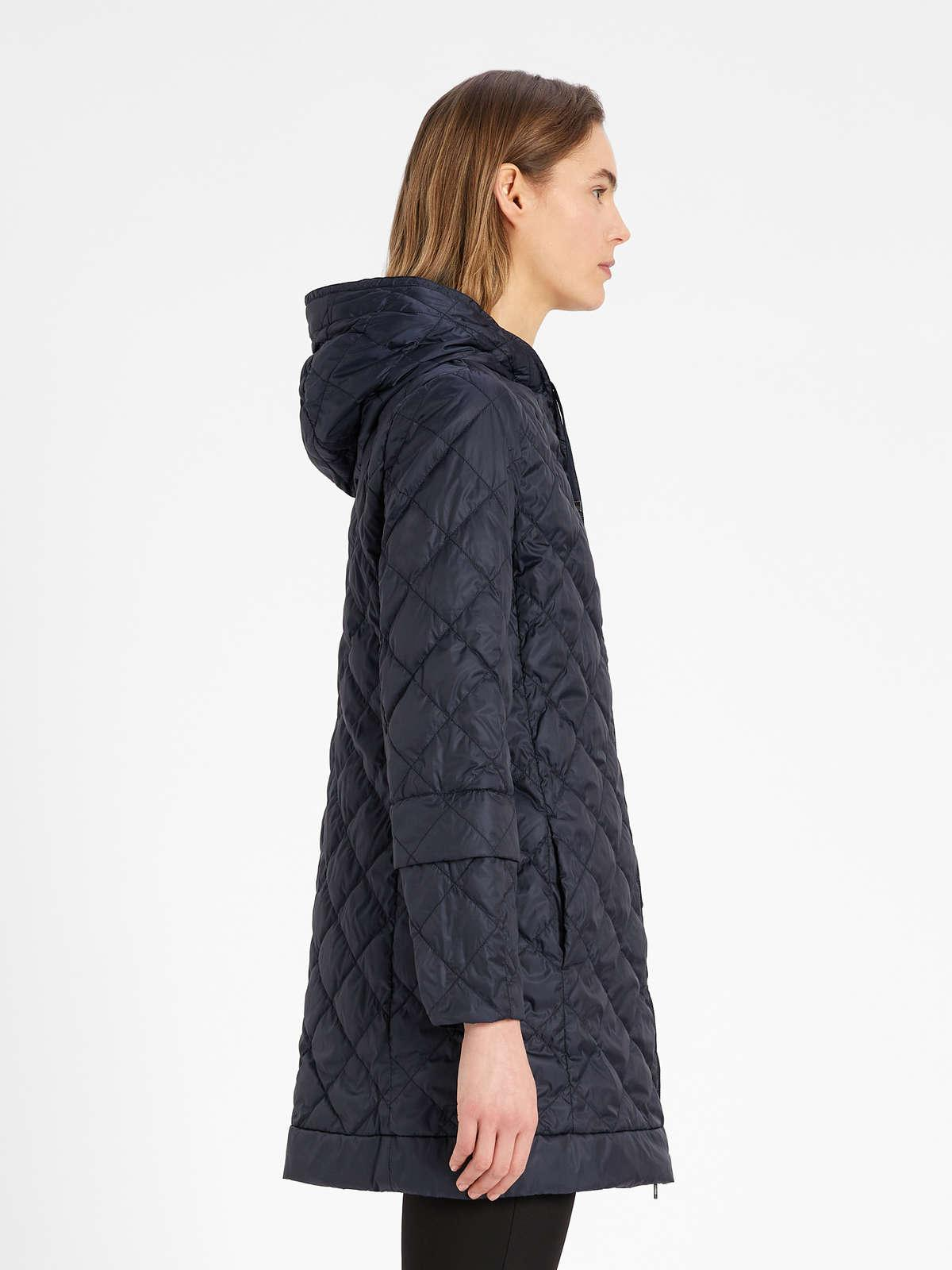 Womens Max Mara Padded Coats | Water-Repellent Reversible Canvas Down Jacket Midnightblue