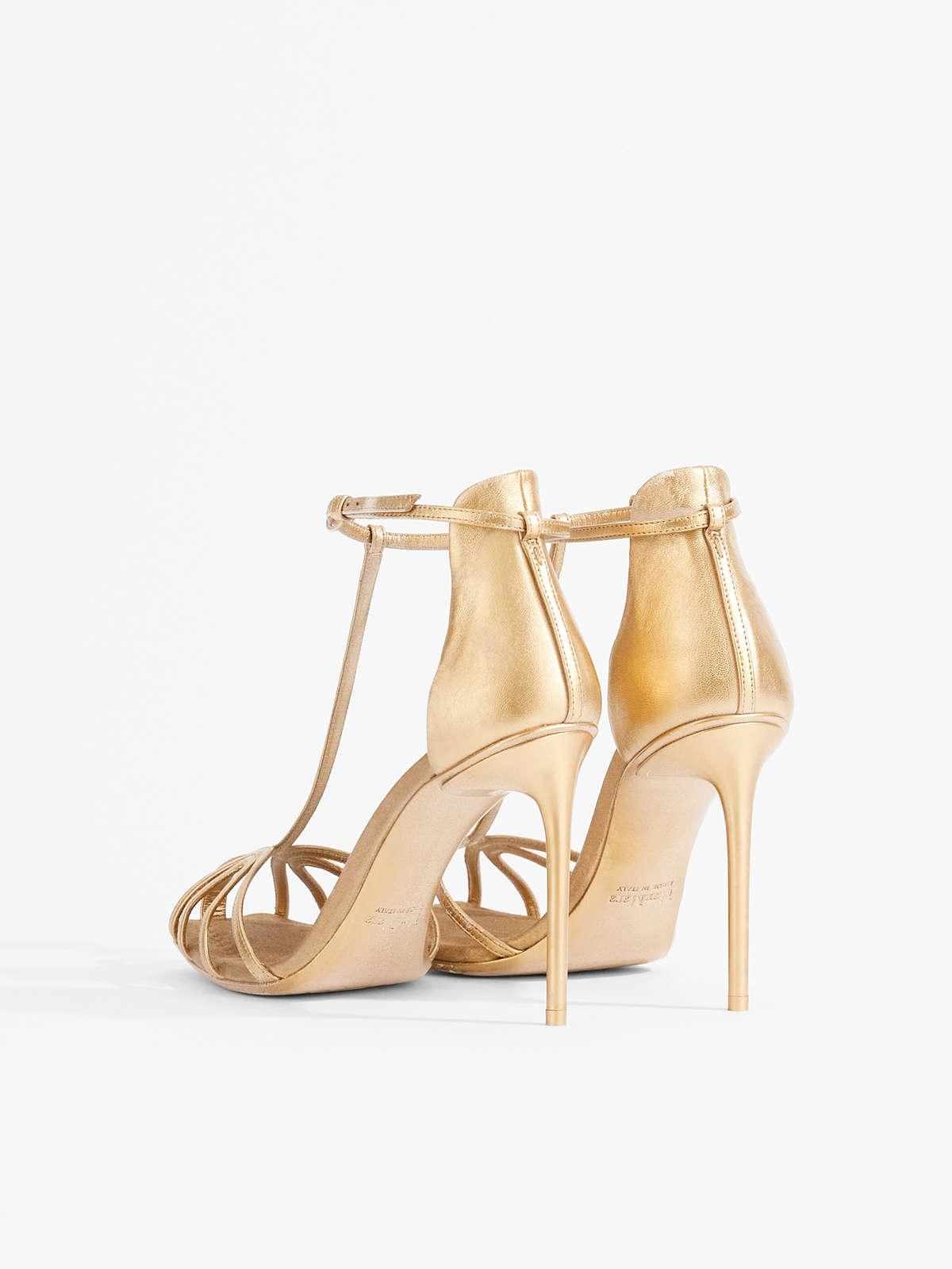 Womens Max Mara Sandals   Nappa Leather And Satin Sandals Light Gold