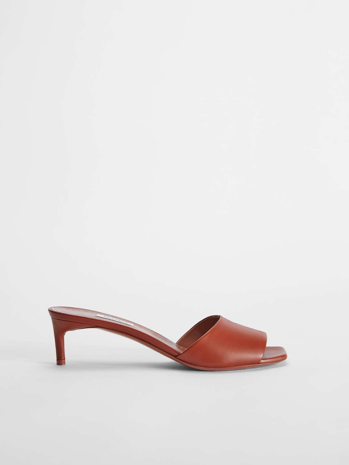 Womens Max Mara Sandals | Nappa Leather Sandals Antique Rose
