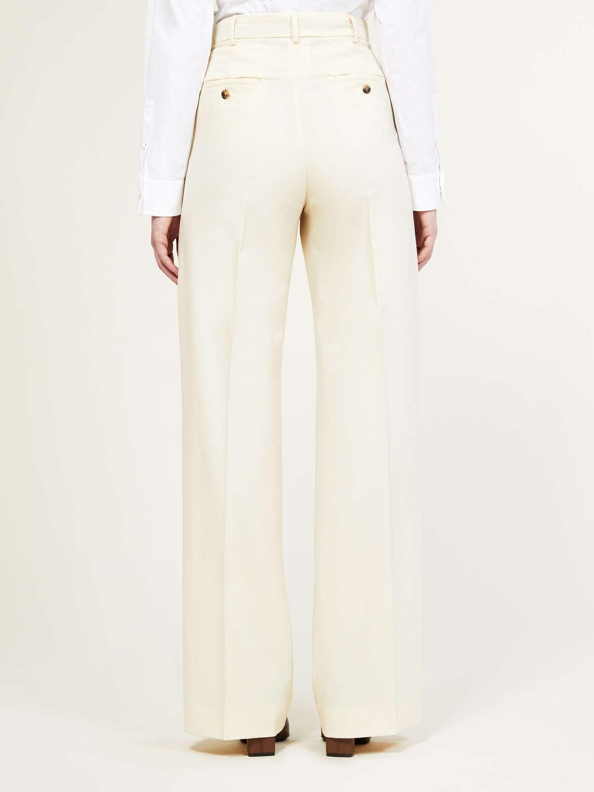 Womens Max Mara Sartorial Suit   Trousers In Wool And Mohair Faille Ivory