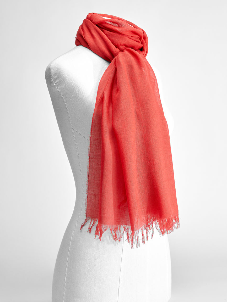 Womens Max Mara Scarves And Foulards | Cashmere And Viscose Yarn Stole Brick Red