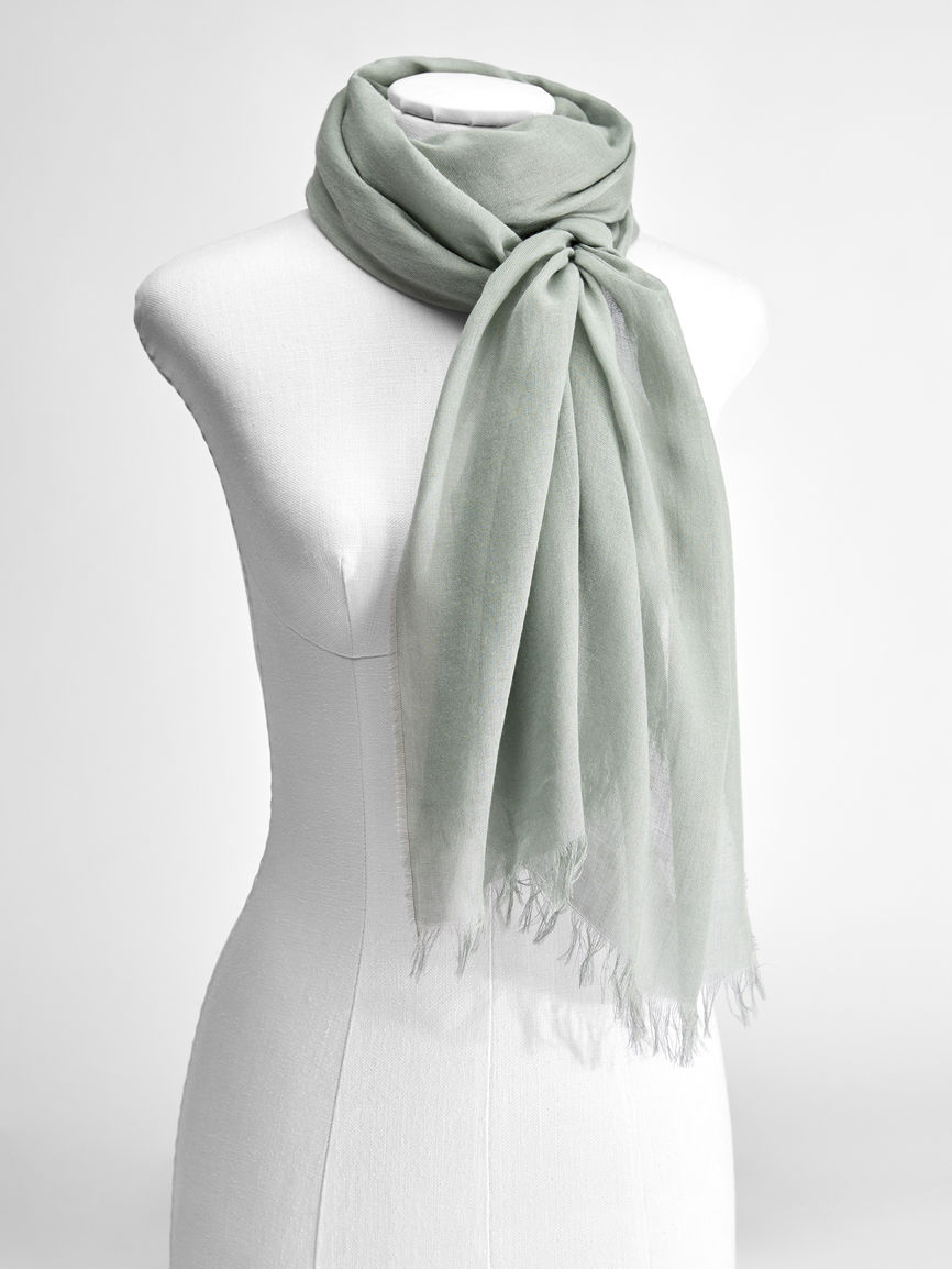 Womens Max Mara Scarves And Foulards   Cashmere And Viscose Yarn Stole Pastel Green