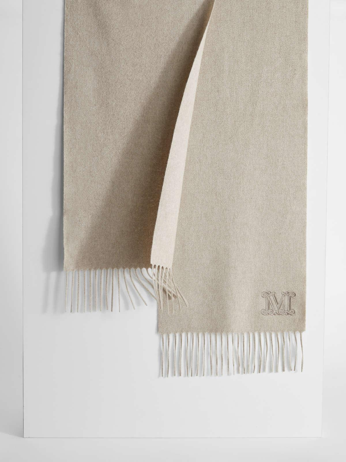 Womens Max Mara Scarves And Foulards   Cashmere Scarf Beige