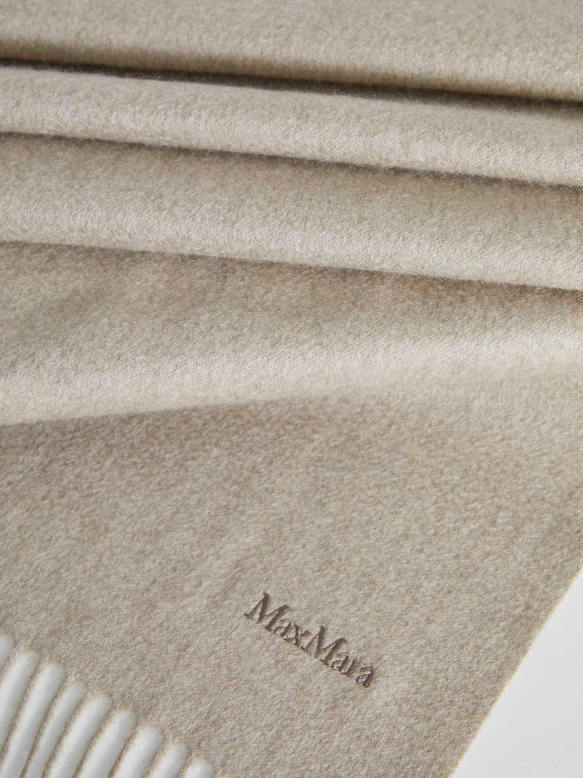 Womens Max Mara Scarves And Foulards | Cashmere Scarf Beige