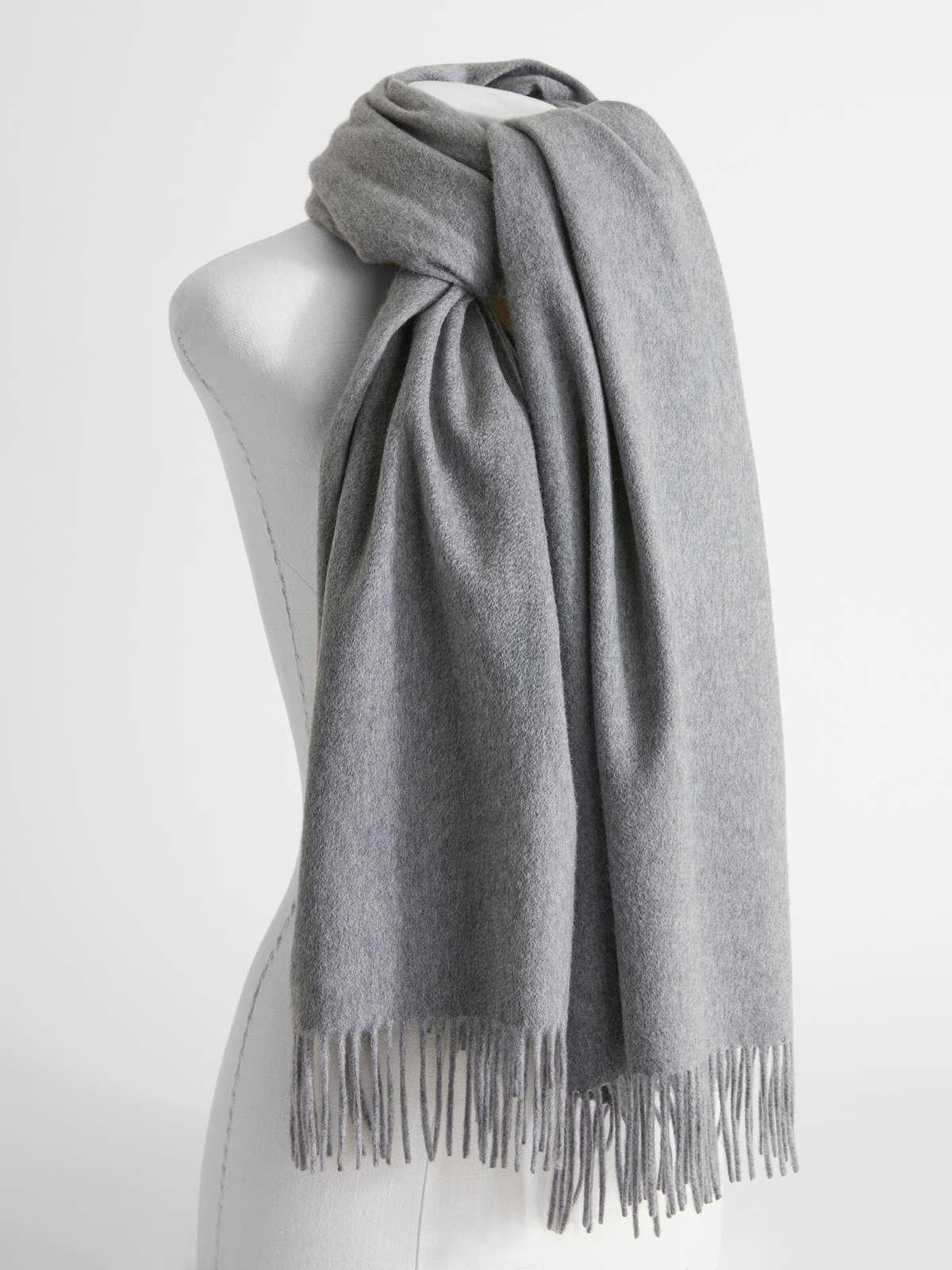 Womens Max Mara Scarves And Foulards | Cashmere Scarf Light Grey
