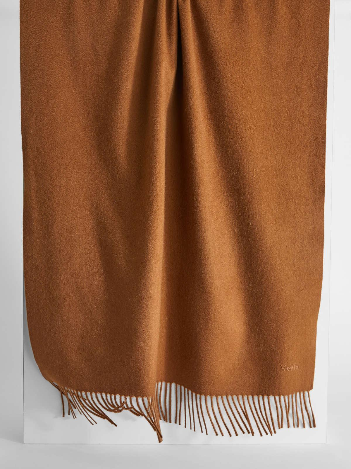 Womens Max Mara Scarves And Foulards | Cashmere Scarf Tobacco