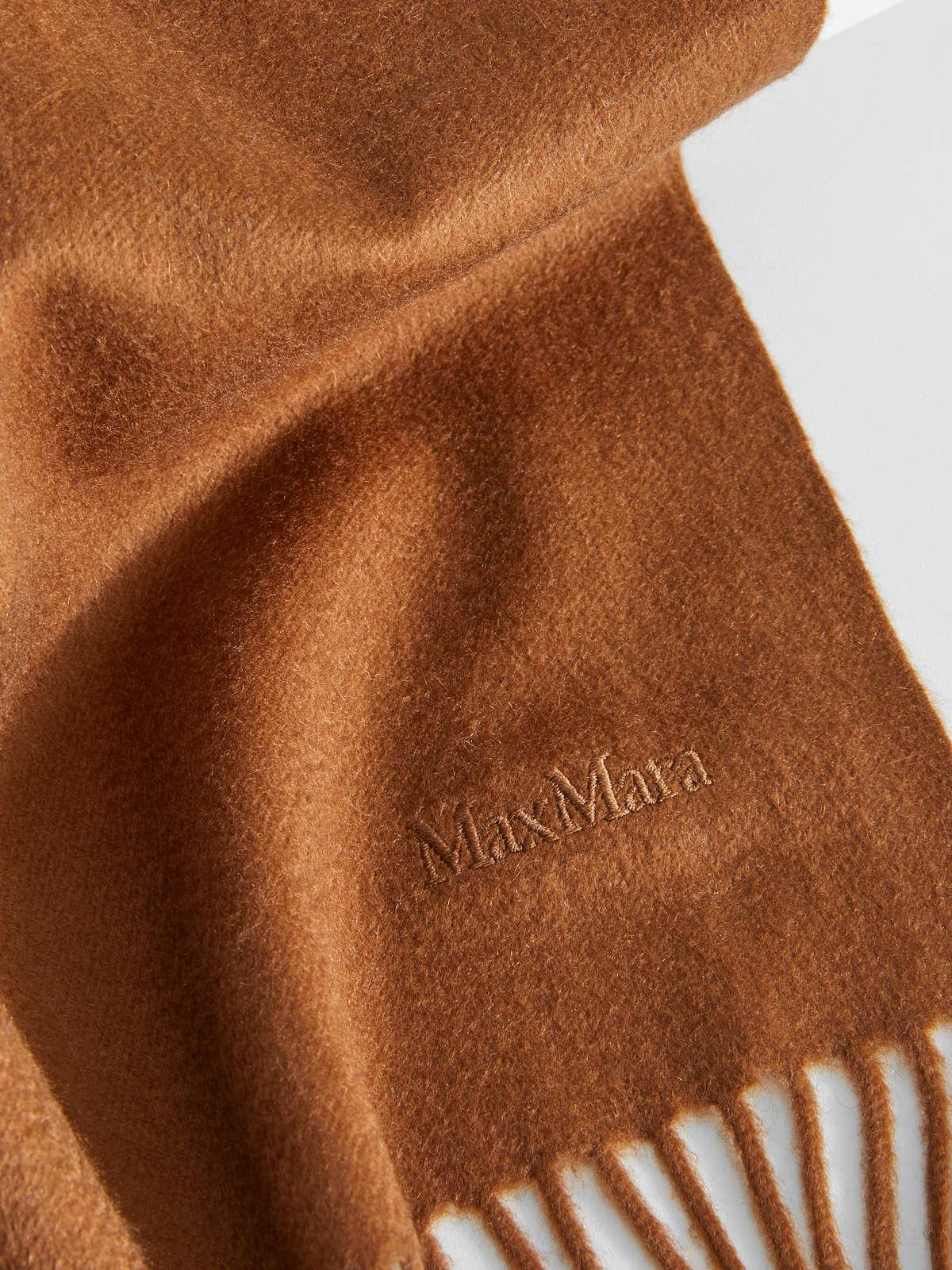 Womens Max Mara Scarves And Foulards   Cashmere Scarf Tobacco