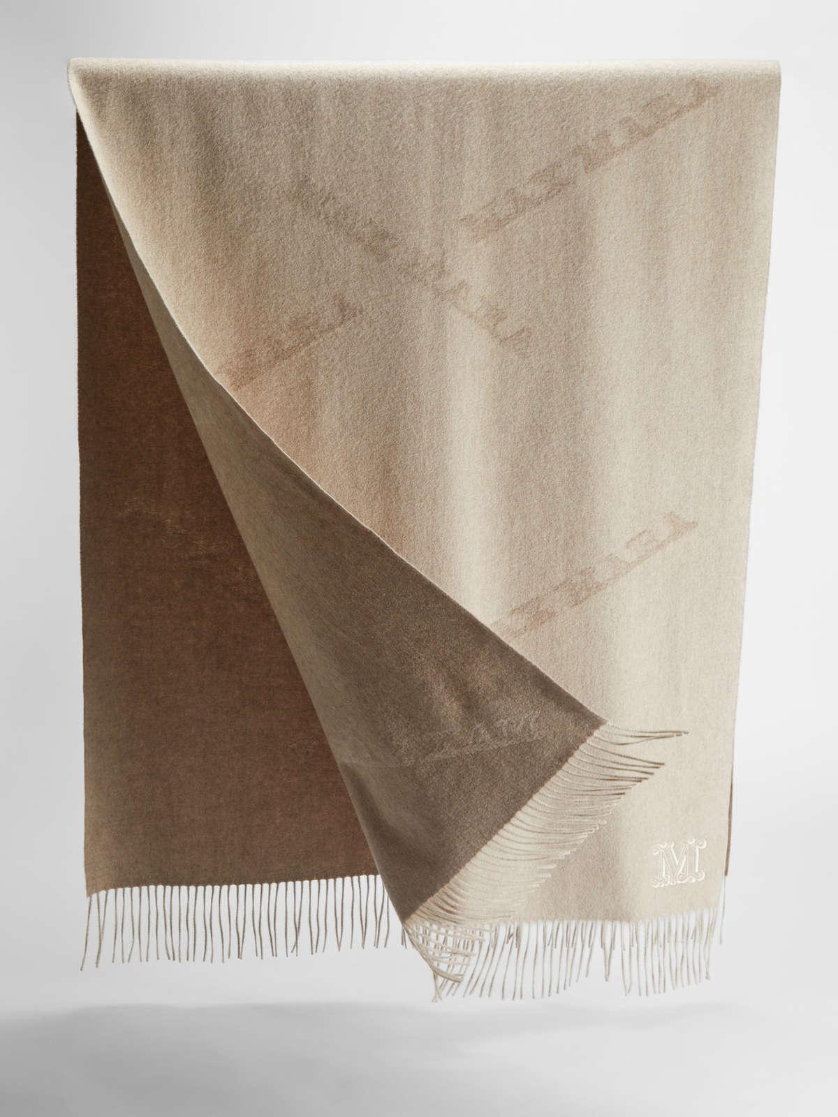 Womens Max Mara Scarves And Foulards   Cashmere Stole Beige