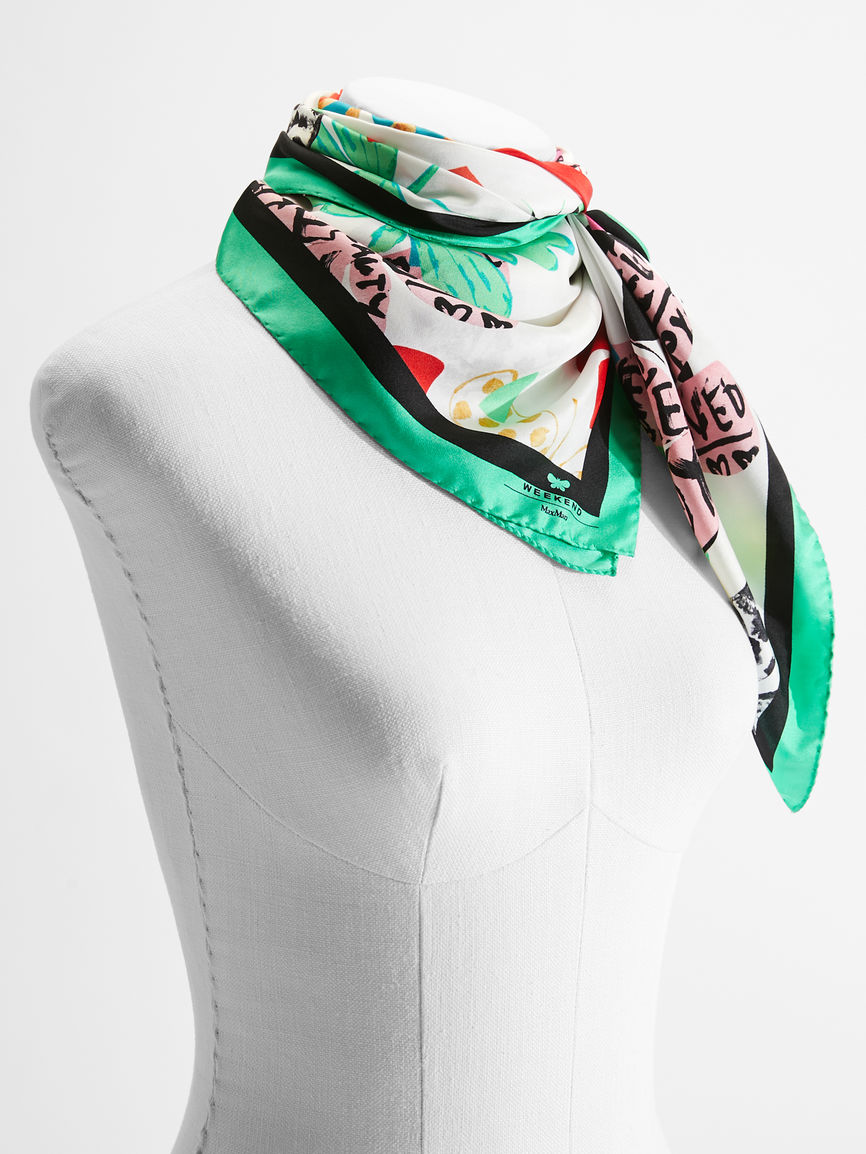 Womens Max Mara Scarves And Foulards | Flutterflies Scarf Multicolour