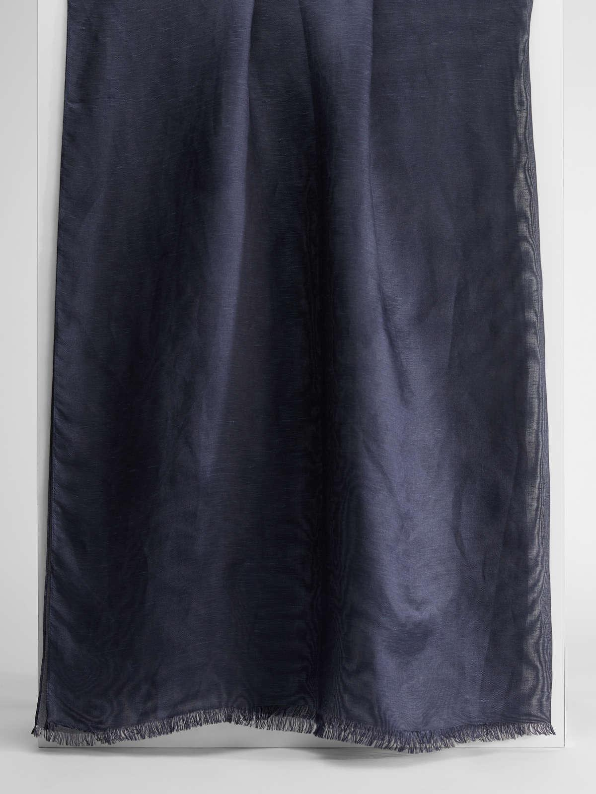 Womens Max Mara Scarves And Foulards   Linen And Silk Knit Stole Midnightblue