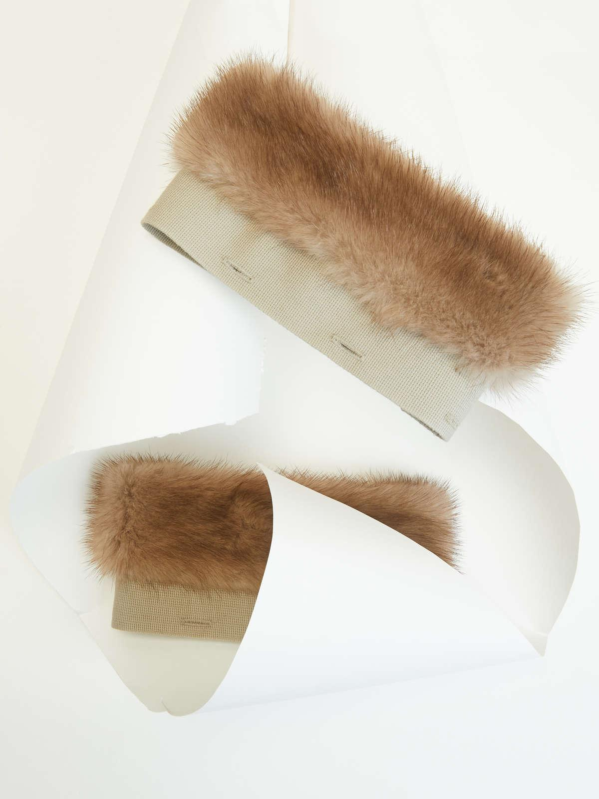 Womens Max Mara Scarves And Foulards   Mink Cuffs Natural Pastel