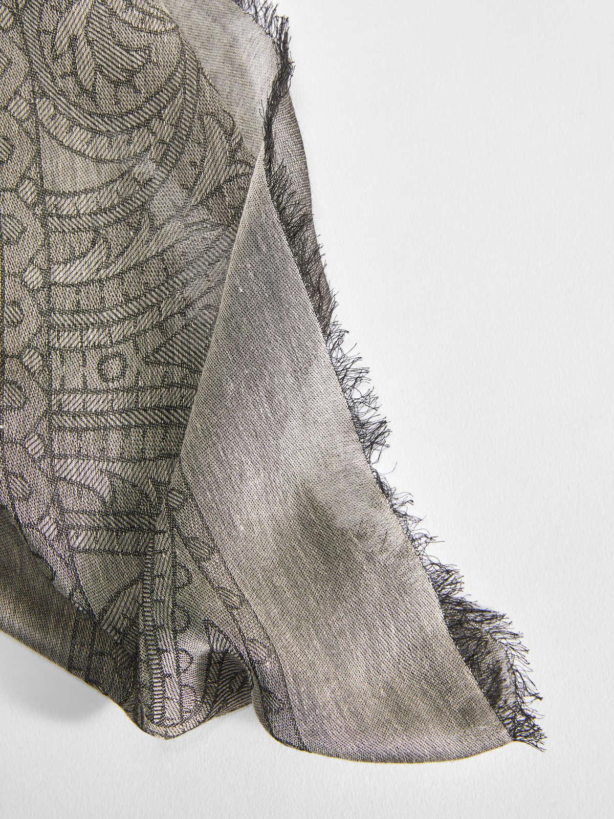 Womens Max Mara Scarves And Foulards   Silk And Cotton Shawl Turtledove Grey