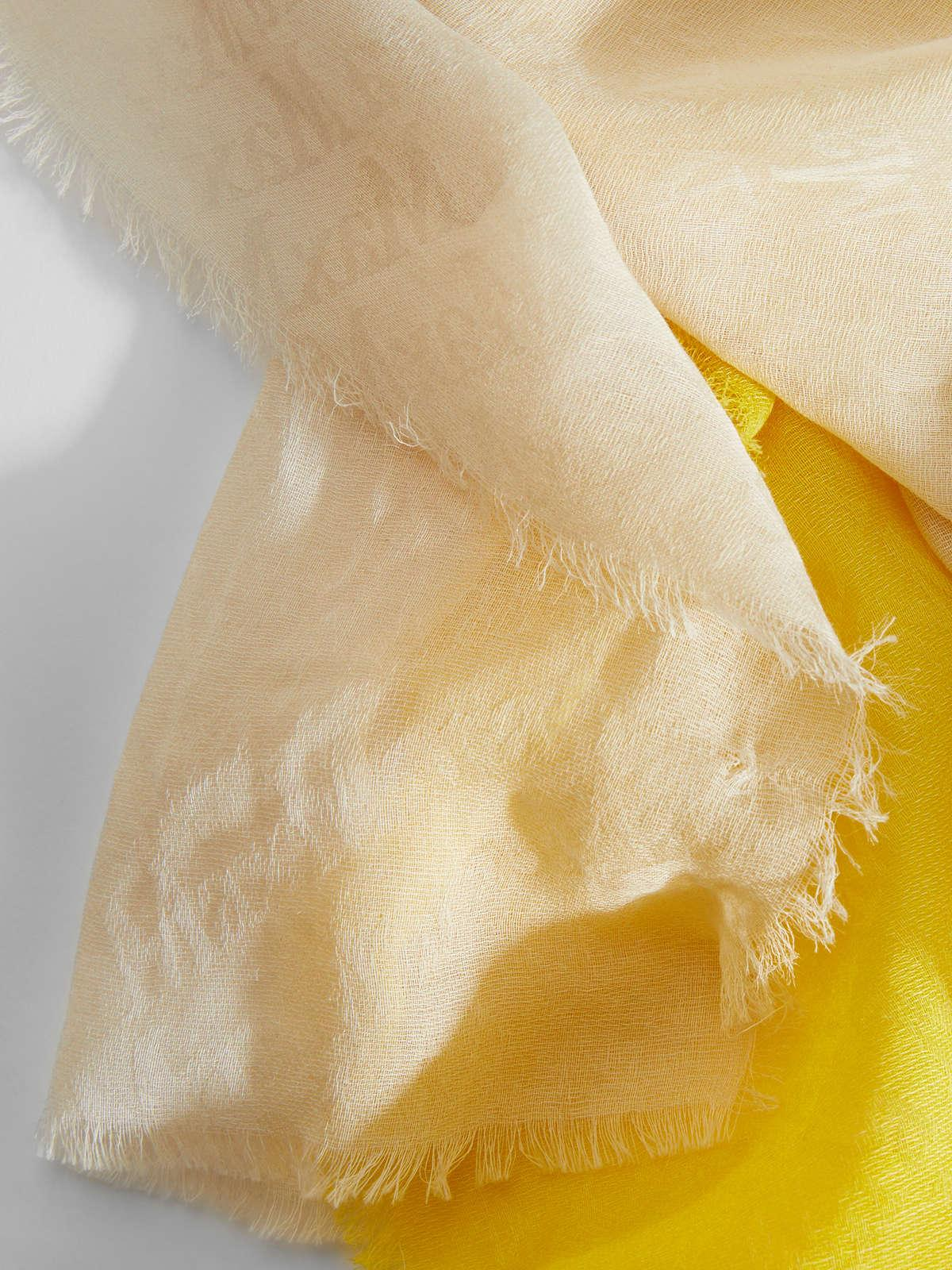 Womens Max Mara Scarves And Foulards | Silk And Cotton Stole Bright Yellow