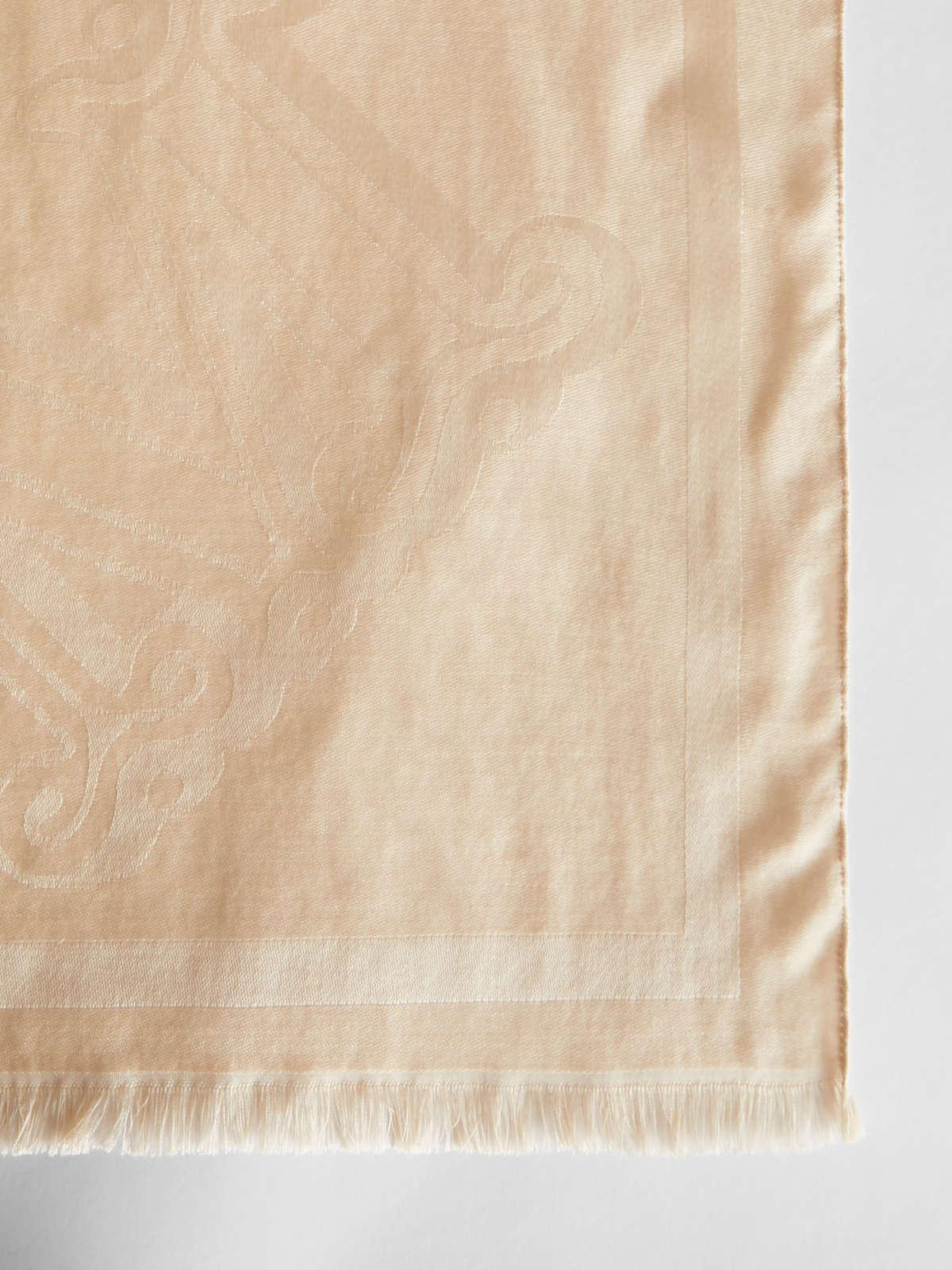 Womens Max Mara Scarves And Foulards | Silk And Wool Stole Beige