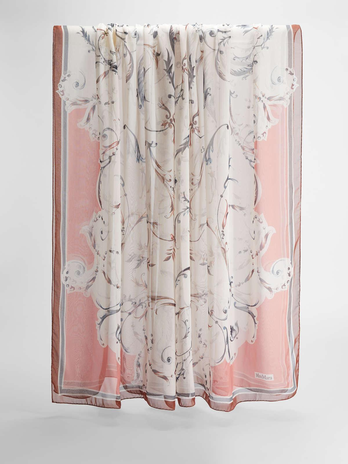 Womens Max Mara Scarves And Foulards   Silk Chiffon Stole Antique Rose