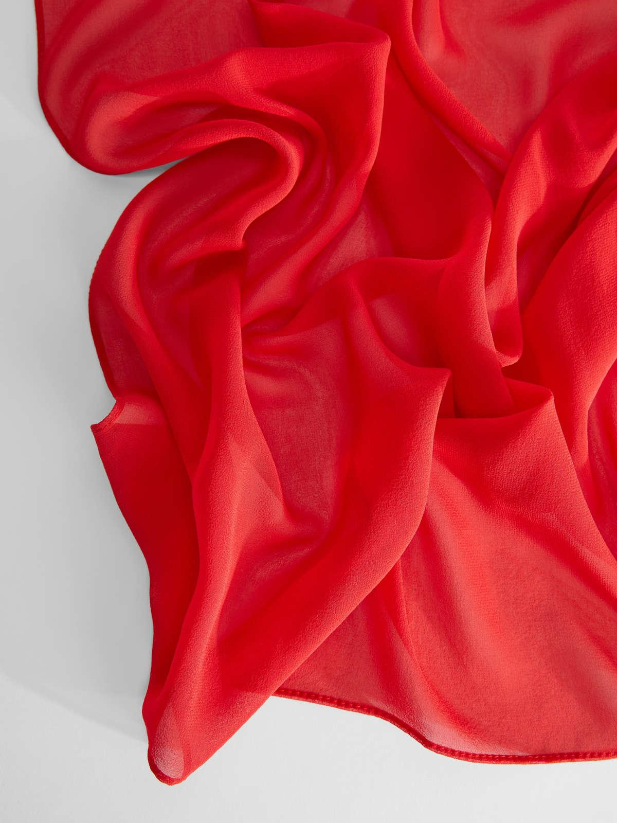 Womens Max Mara Scarves And Foulards | Silk Georgette Stole Red