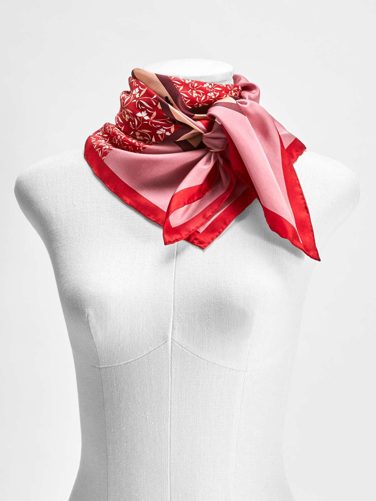 Womens Max Mara Scarves And Foulards | Silk Scarf Antique Rose