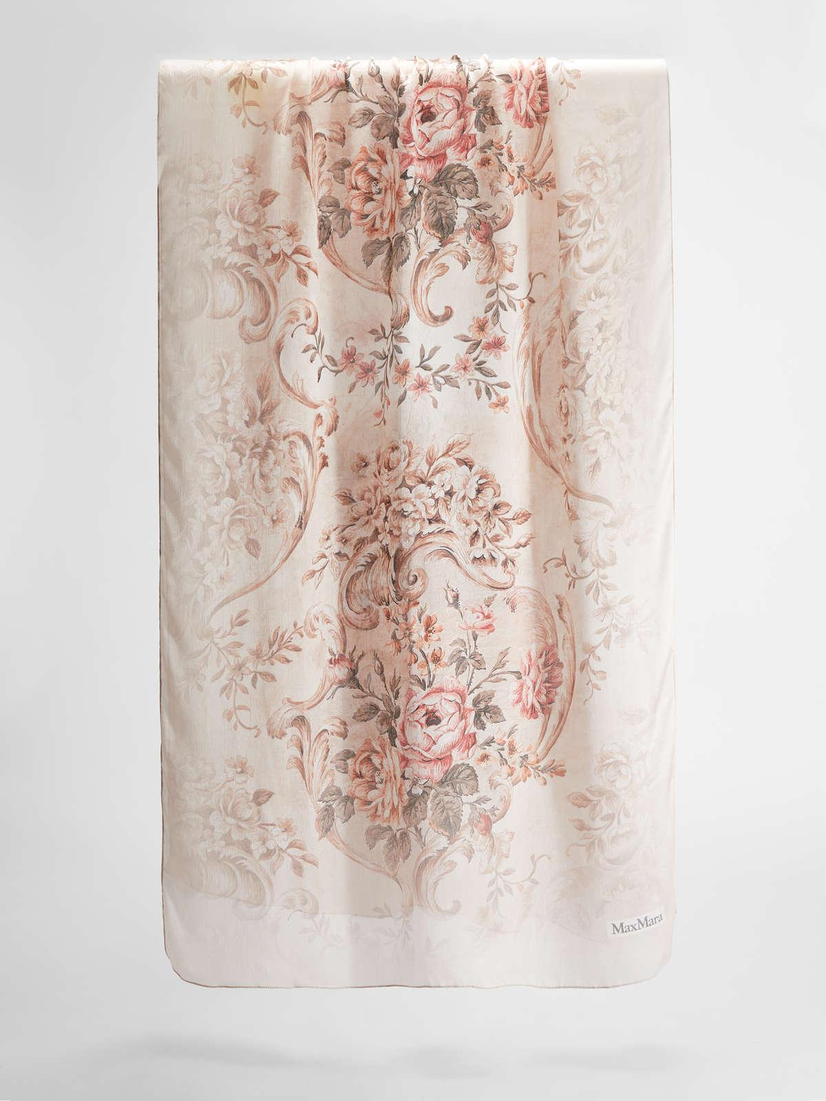 Womens Max Mara Scarves And Foulards   Silk Stole Antique Rose