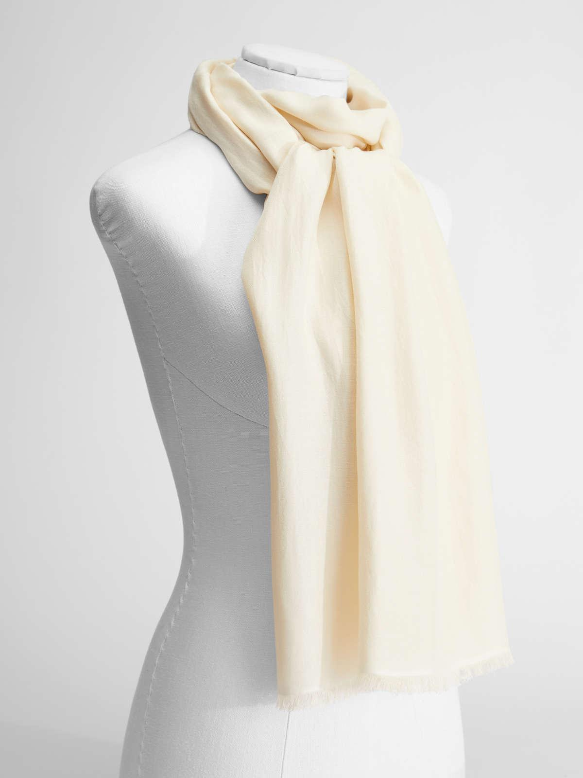 Womens Max Mara Scarves And Foulards   Silk Stole Ivory